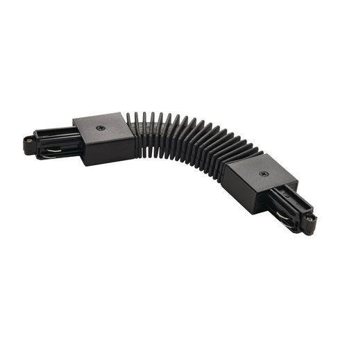 Marbel 143110 SLV 1PHASE-TRACK, коннектор гибкий (70°-180°) с разъёмом питания, 16А макс., черный