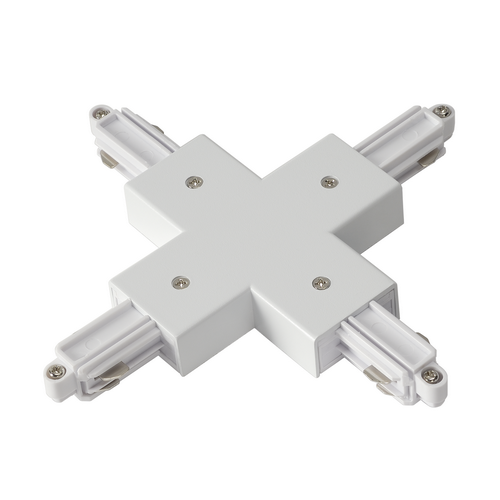 Marbel 143161 SLV 1PHASE-TRACK, X-коннектор с разъемом подвода питания, белый