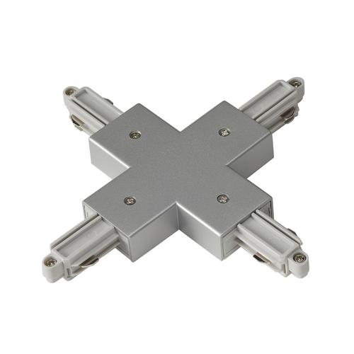 Marbel 143162 SLV 1PHASE-TRACK, X-коннектор с разъемом подвода питания, серебристый