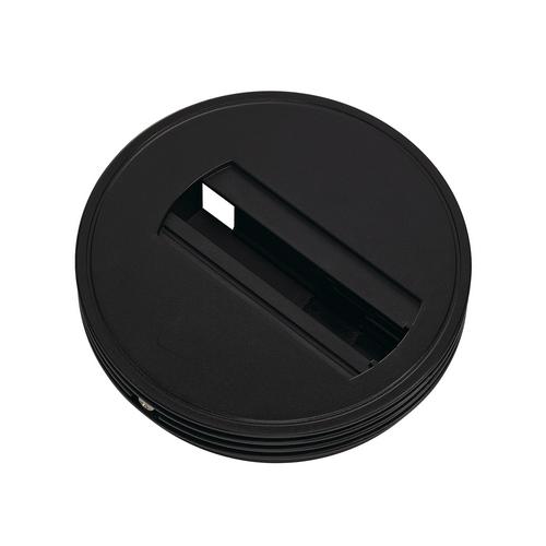 Marbel 143380 SLV 1PHASE-TRACK, основание накладное для светильника с адаптером, 2кг макс., 6А макс., черны