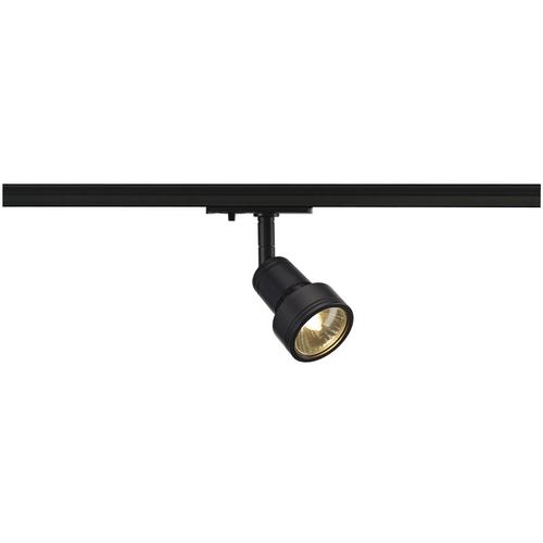 Marbel 143390 SLV 1PHASE-TRACK, PURI светильник для лампы GU10 50Вт макс., черный