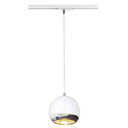 Marbel 143621 SLV 1PHASE-TRACK, LIGHT EYE 150 PD светильник подвесной для лампы ES111 75Вт макс., белый/ хр