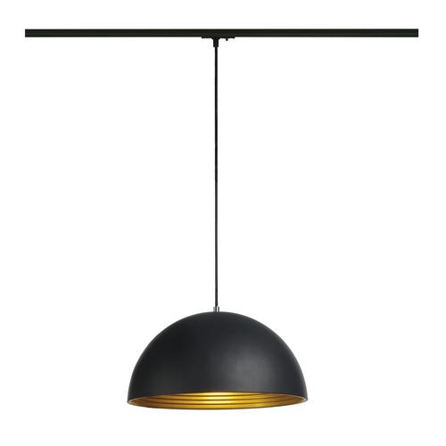Marbel 143932 SLV 1PHASE-TRACK, FORCHINI M 40 светильник подвесной для лампы E27 40Вт макс., черный/золото/