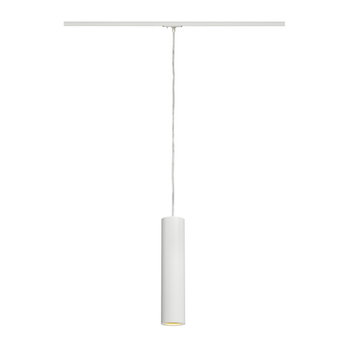 Marbel 143961 SLV 1PHASE-TRACK, ENOLA_B PD-1 светильник подвесной для лампы GU10 50Вт макс., белый