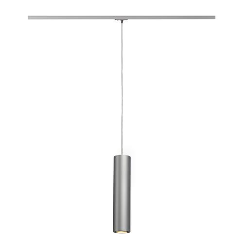 Marbel 143964 SLV 1PHASE-TRACK, ENOLA_B PD-1 светильник подвесной для лампы GU10 50Вт макс., серебристый/ ч