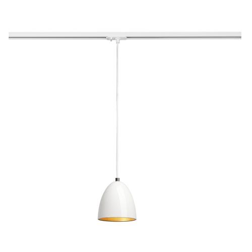 Marbel 143991 SLV 1PHASE-TRACK, PARA CONE 14 светильник подвесной для лампы GU10 35Вт макс., белый/ золотой