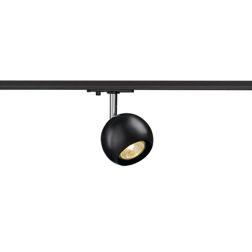 Marbel 144010 SLV 1PHASE-TRACK, LIGHT EYE 90 светильник для лампы GU10 50Вт макс., черный/ хром