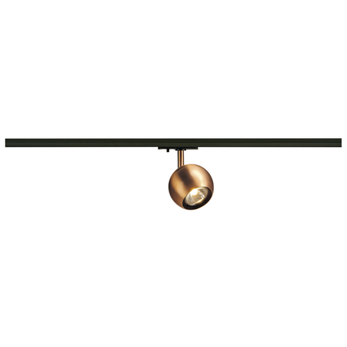Marbel 144019 SLV 1PHASE-TRACK, LIGHT EYE 90 светильник для лампы GU10 50Вт макс., матир.медь/ черный