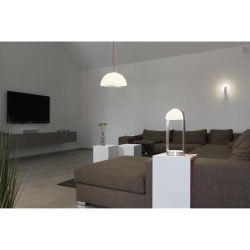 Marbel 146111 SLV BRENDA TL-2 свет-к настольный 11Вт с LED 3000К, 460лм, USB, беспроводная зарядка, алюмини