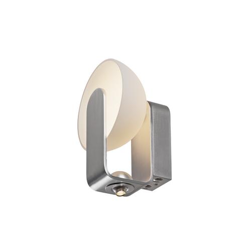 Marbel 149431 SLV BRENDA WL-2 светильник настенный 14Вт с LED 3000К, 880лм+80лм (30°), алюминий/белый