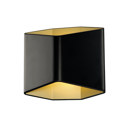 Marbel 151710 SLV CARISO WL-2 светильник настенный 11Вт с LED 3000К, 200лм, черный/ латунь