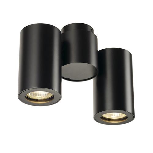 Marbel 151830 SLV ENOLA_B SPOT 2 светильник накладной для 2-х ламп GU10 по 50Вт макс., черный