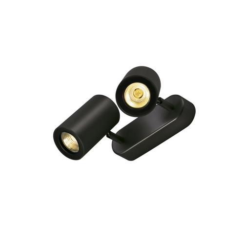 Marbel 152020 SLV ENOLA_B DOUBLE SPOT светильник накладной для 2-х ламп GU10 по 50Вт макс., черный
