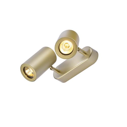 Marbel 152023 SLV ENOLA_B DOUBLE SPOT светильник накладной для 2-х ламп GU10 по 50Вт макс., латунь
