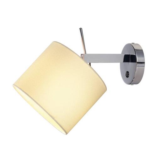 Marbel 156021 SLV TENORA WL-1 светильник настенный для лампы E27 60Вт макс., хром/ белый
