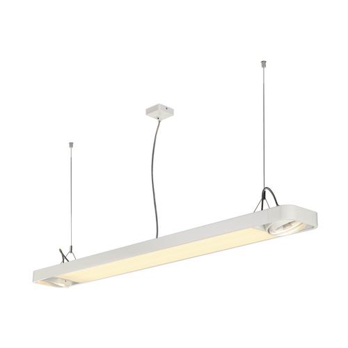 Marbel 159141 SLV AIXLIGHT® R2 OFFICE 150 светильник подвесной c LED 35Вт 4000К 4100лм и для ламп ES111 2х7