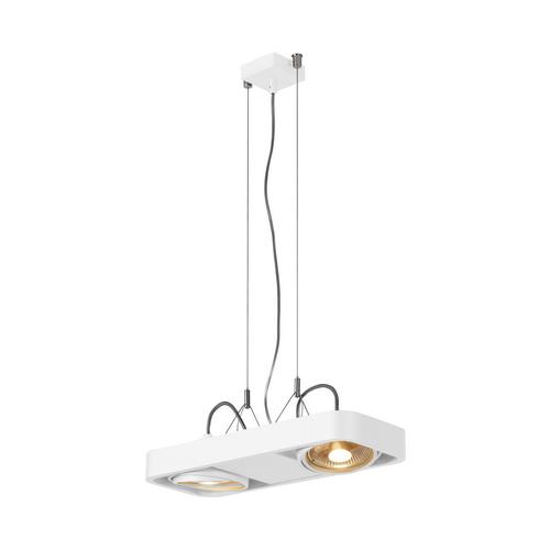 Marbel 159211 SLV AIXLIGHT® R2 DUO QPAR111 светильник подвесной для 2-x ламп ES111 по 75Вт макс., белый