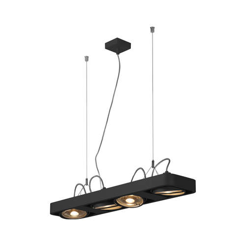 Marbel 159220 SLV AIXLIGHT® R2 LONG QPAR111 светильник подвесной для 4-x ламп ES111 по 75Вт макс., черный