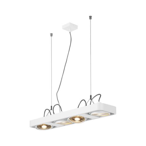 Marbel 159221 SLV AIXLIGHT® R2 LONG QPAR111 светильник подвесной для 4-x ламп ES111 по 75Вт макс., белый