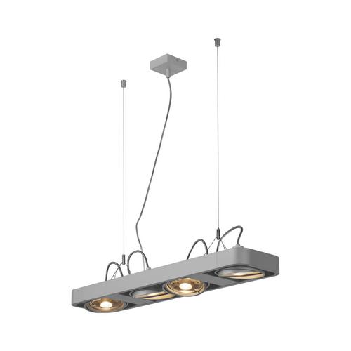 Marbel 159224 SLV AIXLIGHT® R2 LONG QPAR111 светильник подвесной для 4-x ламп ES111 по 75Вт макс., серебрис
