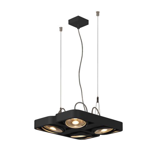 Marbel 159230 SLV AIXLIGHT® R2 QUAD QPAR111 светильник подвесной для 4-x ламп ES111 по 75Вт макс., черный