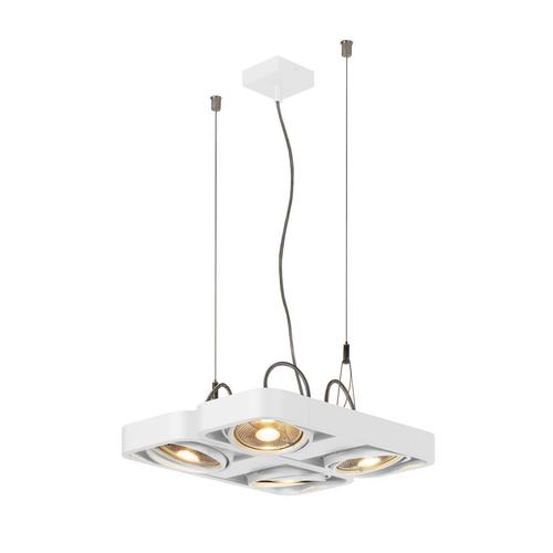 Marbel 159231 SLV AIXLIGHT® R2 QUAD QPAR111 светильник подвесной для 4-x ламп ES111 по 75Вт макс., белый