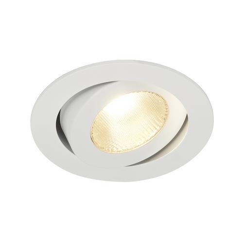 Marbel 161271 SLV CONTONE® TURNO ROUND DtW светильник встраив. 16Вт с LED 2000-3000К, 890лм, 30°, CRI>90, с