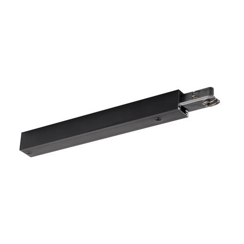 Marbel 172040 SLV D-TRACK, разъём питания торцевой, 230В, 2х 10А макс., черный