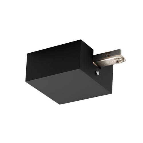 Marbel 172060 SLV D-TRACK, разъём питания торцевой с корпусом, 230В, 2х 10А макс., черный
