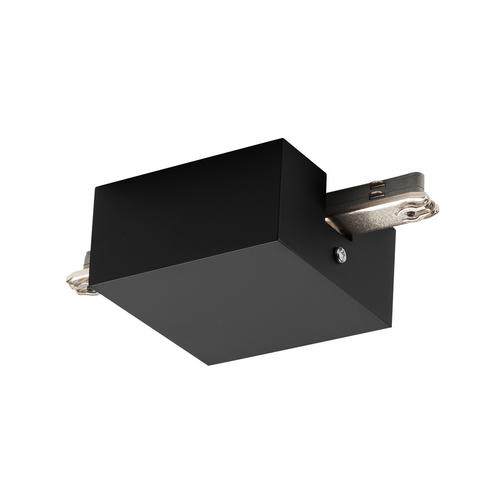 Marbel 172070 SLV D-TRACK, разъём питания центральный с корпусом, 230В, 2х 10А макс., черный