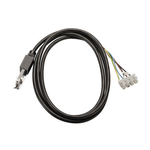 Marbel 172080 SLV D-TRACK, разъём питания торцевой с кабелем 2м, 230В, 2х 10А макс., черный
