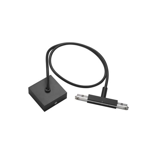 Marbel 172100 SLV D-TRACK, центральный разъём питания с кабелем 1м и основанием, 230В, 2х 10А макс., черный