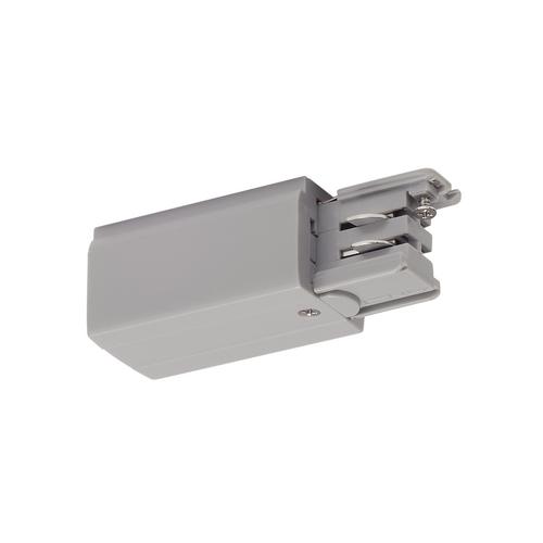 Marbel 175044 SLV 3Ph | S-TRACK, разъём питания торцевой, GND справа, 16А макс., серебристый