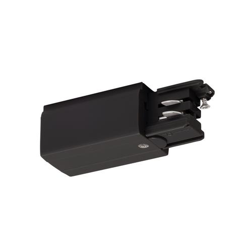 Marbel 175050 SLV 3Ph | S-TRACK, разъём питания торцевой, GND слева, 16А макс., черный