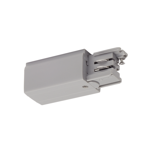 Marbel 175054 SLV 3Ph   S-TRACK, разъём питания торцевой, GND слева, 16А макс., серебристый