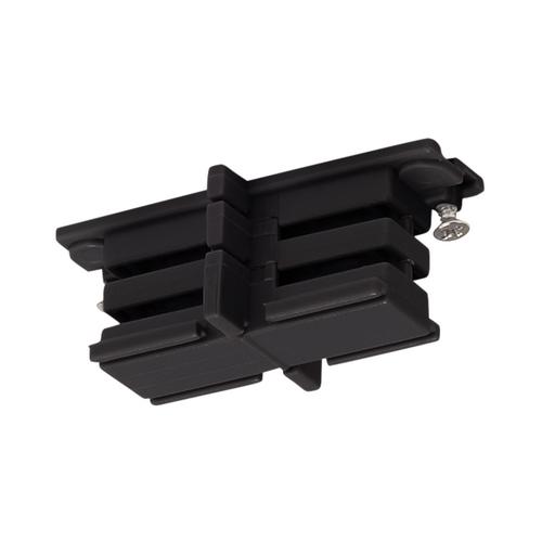 Marbel 175080 SLV 3Ph | S-TRACK, коннектор прямой внутренний изолирующий, черный
