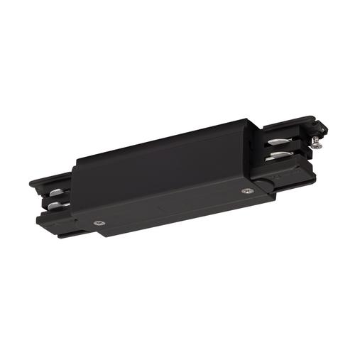 Marbel 175090 SLV 3Ph | S-TRACK, коннектор прямой внешний с разъёмами питания, 16А макс., черный