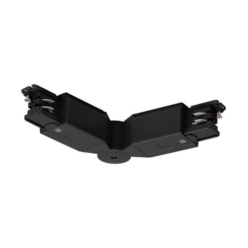 Marbel 175100 SLV 3Ph | S-TRACK, коннектор гибкий с разъёмами питания, 16А макс., черный