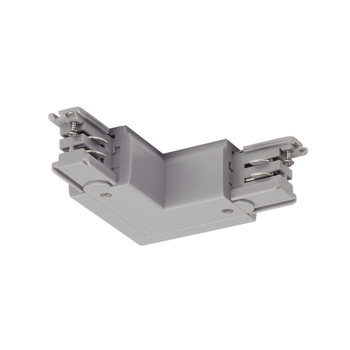 Marbel 175114 SLV 3Ph | S-TRACK, L-коннектор с разъёмом питания, 16А макс., GND по внутреннему углу, серебр