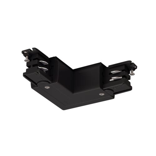 Marbel 175120 SLV 3Ph | S-TRACK, L-коннектор с разъёмом питания, 16А макс., GND по внешнему углу, черный