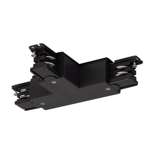 Marbel 175140 SLV 3Ph | S-TRACK, T-коннектор с разъёмом питания, GND справа, черный