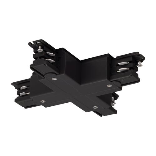Marbel 175150 SLV 3Ph | S-TRACK, X-коннектор с разъёмом питания, 16А макс., черный