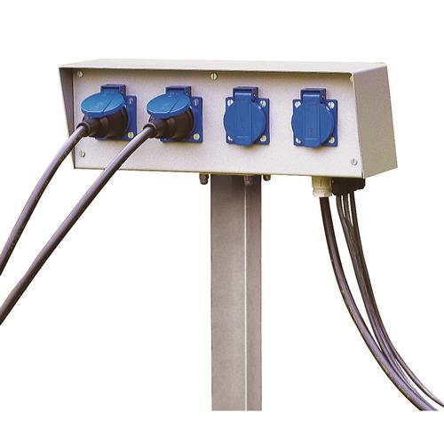 Marbel 227000 SLV ENERGY-PACK блок подключения на 4 розетки 230B/16A, IP54, шток в грунт 50 см, серый
