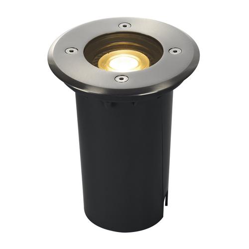 Marbel 227680 SLV EARTHLUX ROUND светильник встраиваемый IP67 для лампы GU10 6Вт макс., сталь
