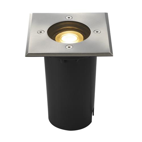 Marbel 227684 SLV EARTHLUX SQUARE светильник встраиваемый IP67 для лампы GU10 6Вт макс., сталь