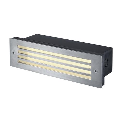 Marbel 229110 SLV BRICK MESH светильник встраиваемый IP54 4Вт с LED 3000К, 52лм, сталь