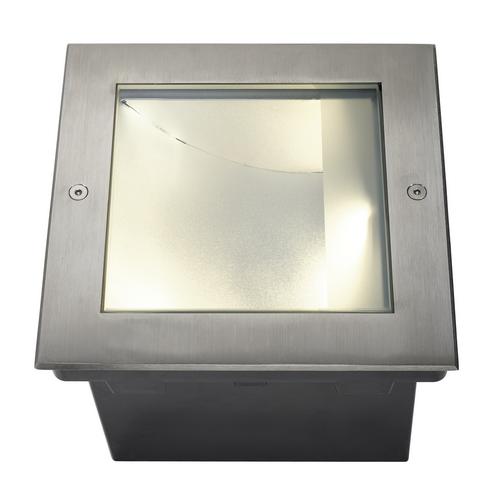 Marbel 229383 SLV DASAR® 255 SQUARE светильник встраиваемый IP67 34Вт c LED 3000К, 1620лм, сталь
