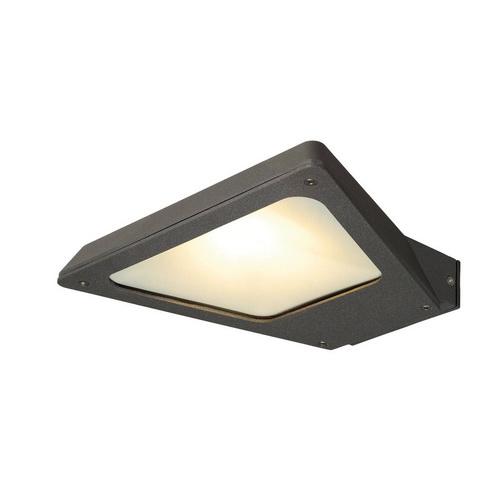 Marbel 231745 SLV TRAPECCO WALL DOWN светильник настенный IP44 10Вт с LED 3000К, 850лм, 100°, антрацит