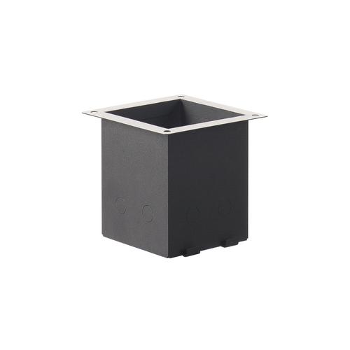 Marbel 232195 SLV H-POL, стакан монтажный для грунта, черный