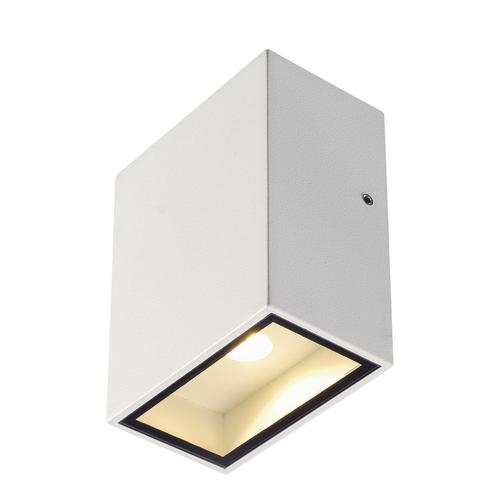 Marbel 232431 SLV BIG QUAD светильник настенный IP44 4.5Вт с LED 3000К, 290лм, 110°, белый